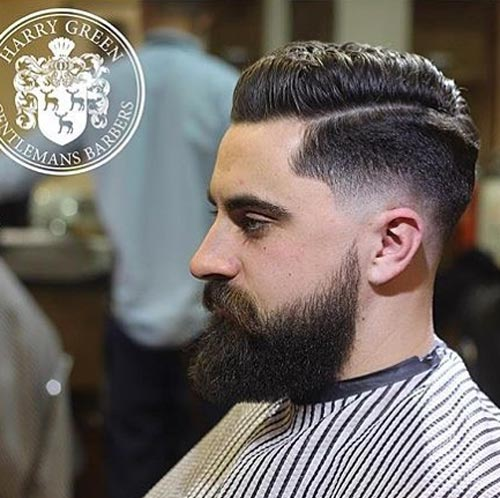 Classic Side Part with Low Fade