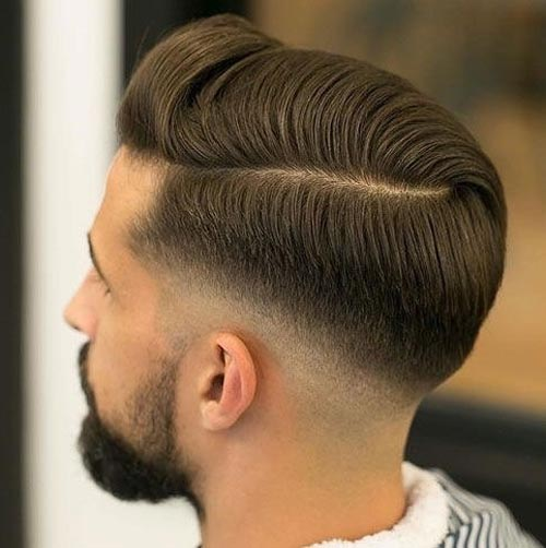 Side Part Haircut with Taper Fade