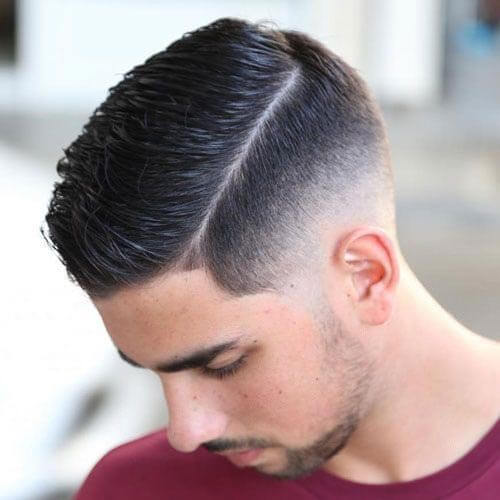 Side Part with Low Skin Fade