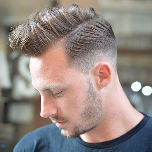 Wavy Sectioned Quiff with Side Part