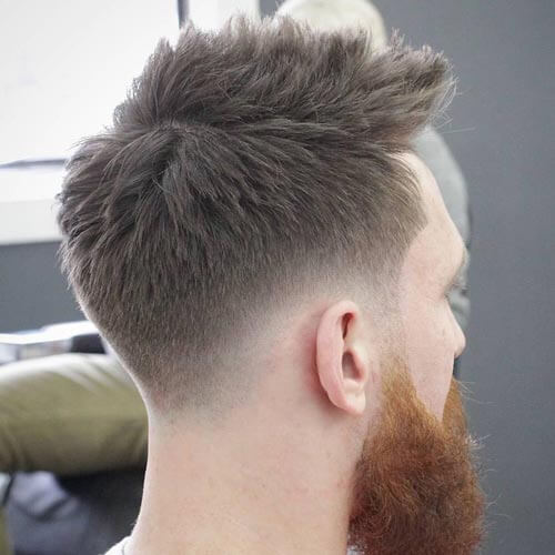 Textured Haircut with Spiky Top