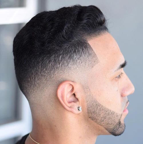 High and Tight Fade with Temple Fade
