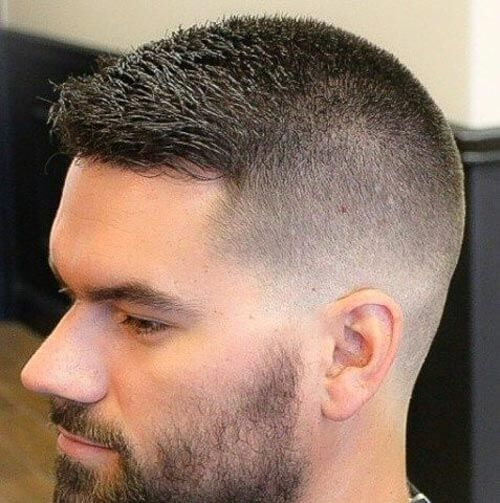 Crew Cut with Long Front