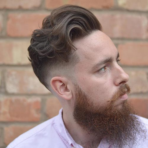 Long Wavy Comb Over with Patchy Beard