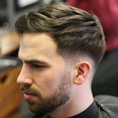 Mid Length hair with Drop Fade