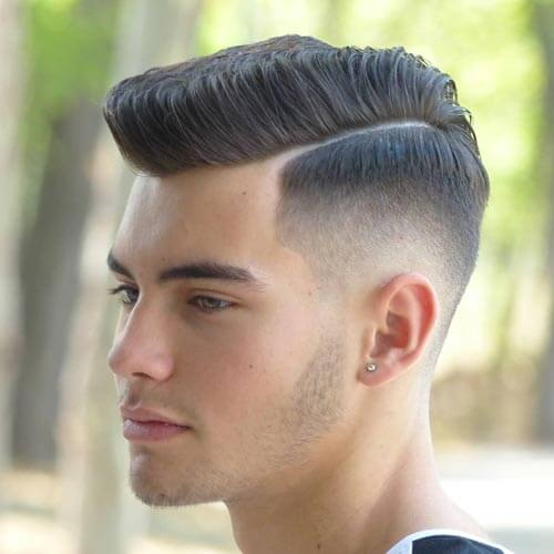 Stylish Flat Top with Drop Fade and Part