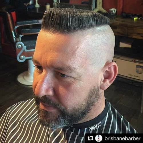 Angled Front Flat Top with Skin Cut