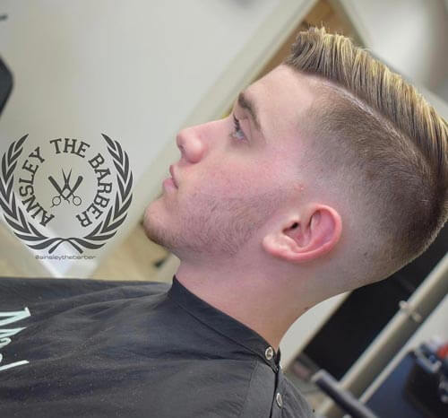 Highlighted Comb Over - Men's Short Hairstyles