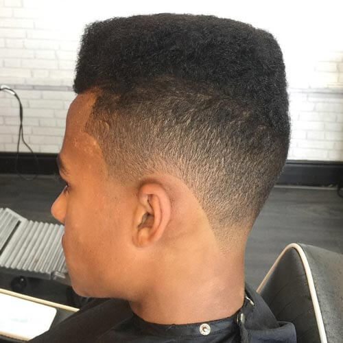 Tapered Flat Top Haircut with Lineup