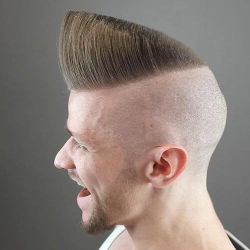 Angled Front Flat Top with Shaven Sides