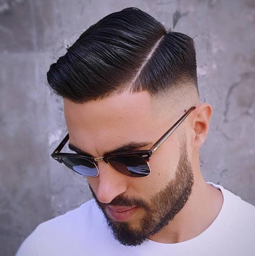 Edgy Side Part and Bald Fade