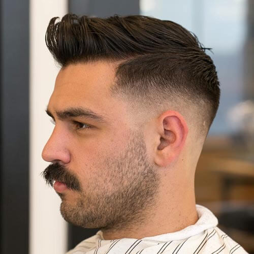 Taper Fade Pomp with Quiff