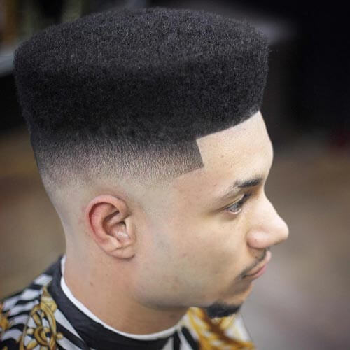 Classic Flat Top with Temple Fade