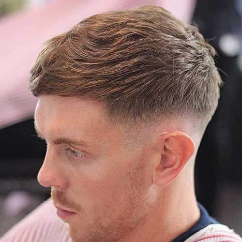 Low Fade with Tousled Top - Short Haircut