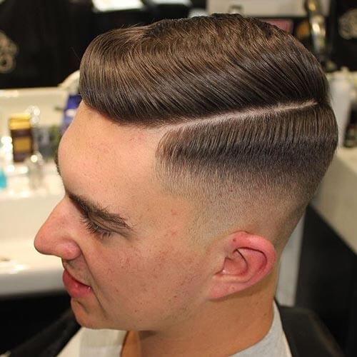 Deep Parted Comb Over - Men's Short Hairstyles