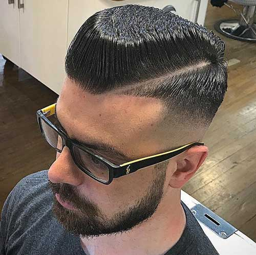 Widow's Peak Flat Top with Part and Drop Fade