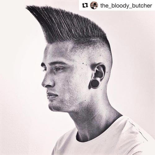 High Angular Flat Top with Shaved Sides