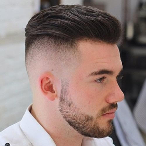 Pompadour With High Fade - Short Haircut