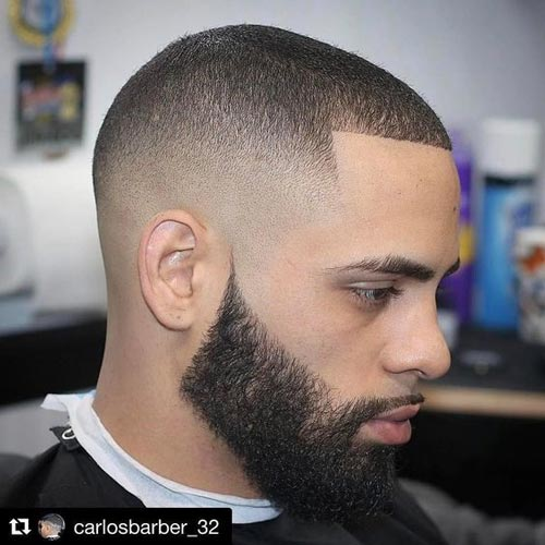 Buzz Cut With Bald Fade - Short Hairstyles For Men