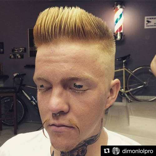 Highlighted Flat Top with High Skin Fade