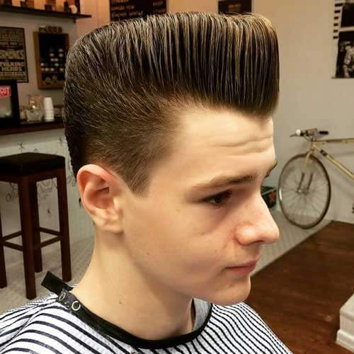 Brushed Up Pompadour Haircut