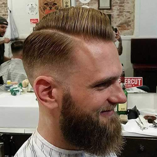 Razor Haircut With Side Part