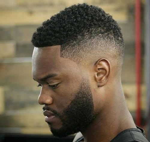 Kinky Hair With Lineup and Fade