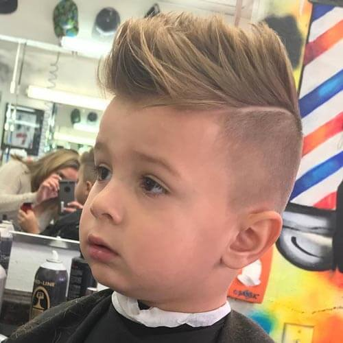 cute little boy haircuts - Faux Hawk with Part