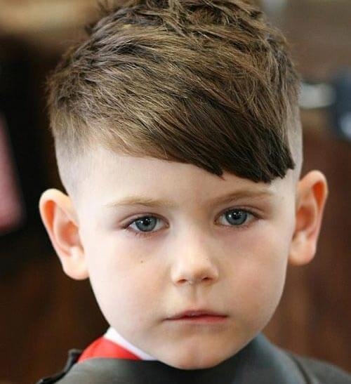 cute little boy haircuts - Fringe and Taper Fade