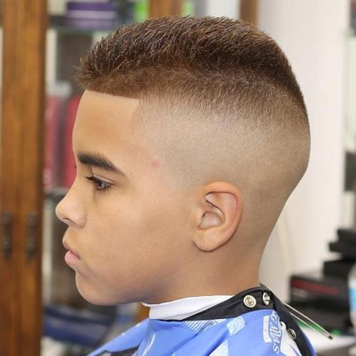 Cute Little Boy Haircuts - High Top Buzzed Cut