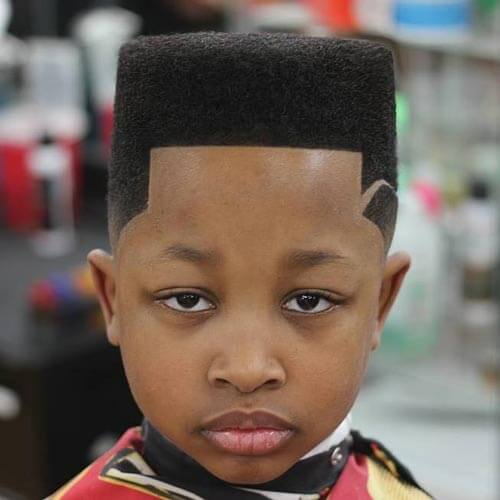 Haircut For Toddler Boys - Flat Top with Temp Fade