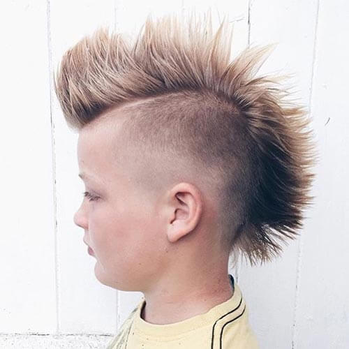 Cute Little Boy Haircuts - Spiky Mohawk and Taper Fade