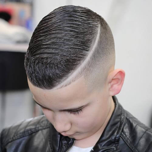 Haircuts For Little Boys - Layered Comb Over
