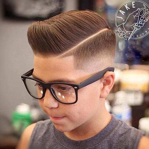 Cute Little Boy Haircuts - Pompadour with Side Part