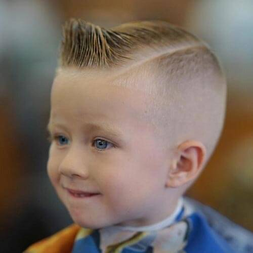 Cute Little Boy Haircuts - Crew Cut Comb Over