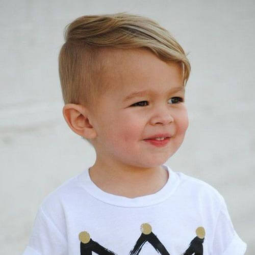 Haircuts For Little Boys - Side Part Fringe