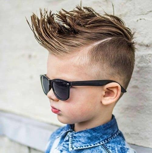 Haircuts For Little Boys - Faux Hawk with Quiff