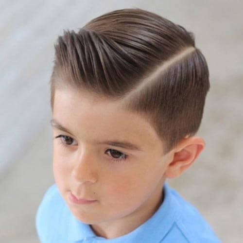 Haircuts For Little Boys - Comb Over With Deep Part
