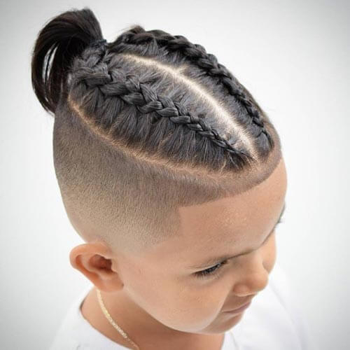 Braided Ponytail - haircuts for little boys