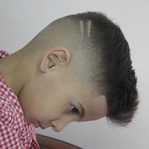 Haircut For Toddler Boys - Quiff With Taper Fade and Back Design