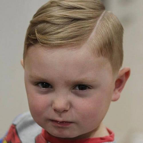 Haircut For Toddler Boys - Sectioned Haircut With Deep Part
