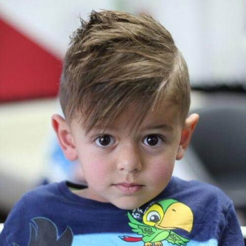 Brush Forward Haircut For Toddler Boys