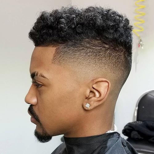Loose and Curly Flat Top