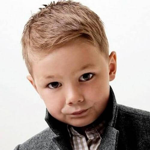 Textured Side Part - haircuts for little boys