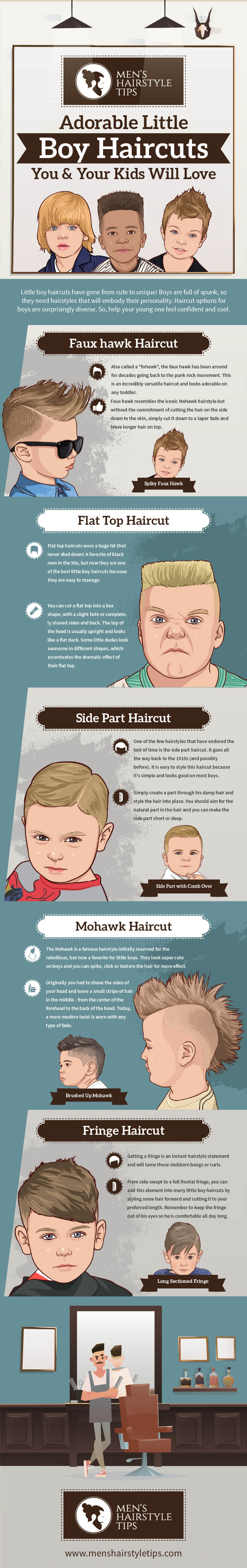 Cute Little Boy Haircuts - Infographics