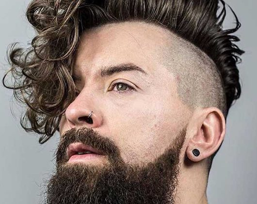 Long Hairstyles For Men - The curly undercut