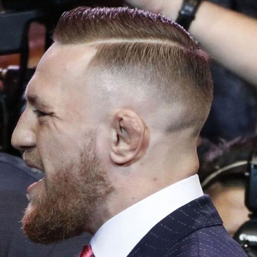 Conor McGregor Haircut - Deep Side Part
