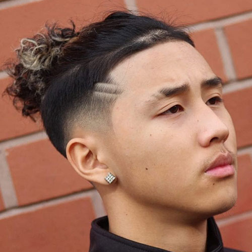 Asian Man Bun Hairstyle