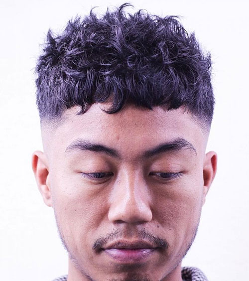 Asian Caesar Haircut with Texture