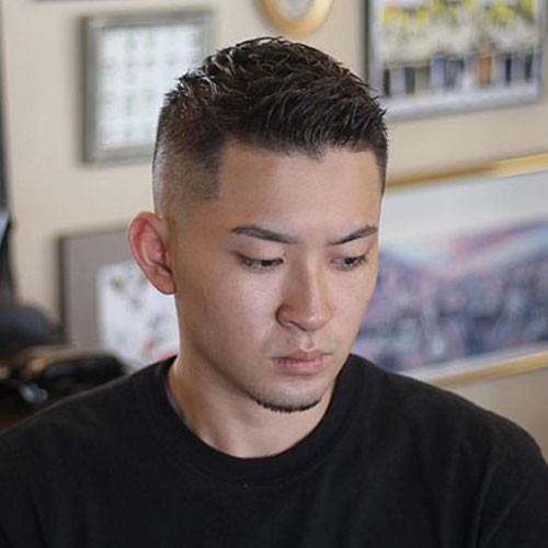 Asian High Drop Fade Haircut